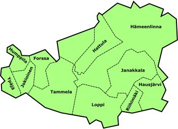kanta-hämeen kartta