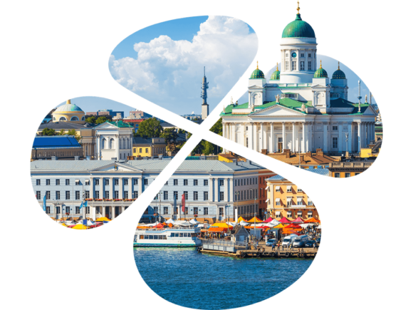 Helsingin kaupunki, tuomiokirkko apilan sisällä