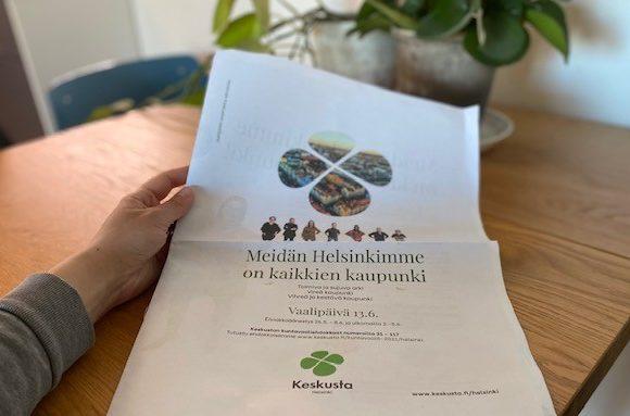 Helsingin Keskustan vaalilehti on julkaistu