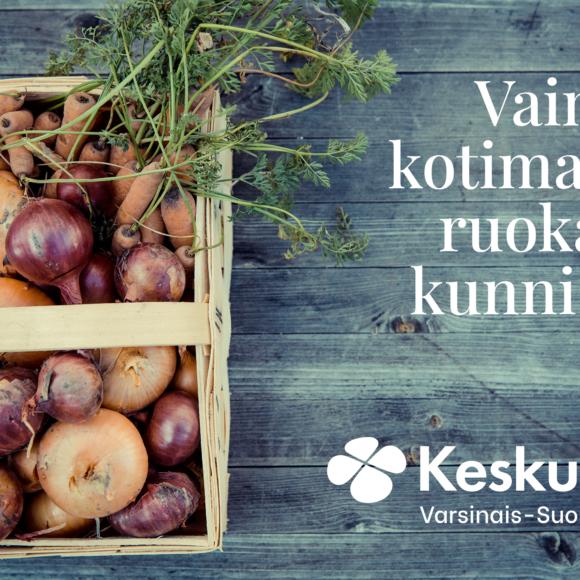 Varsinais-Suomen Keskusta: Vain kotimaista ruokaa kunnissa