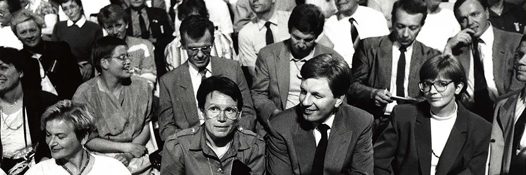 Puoluekokous Porissa 1990