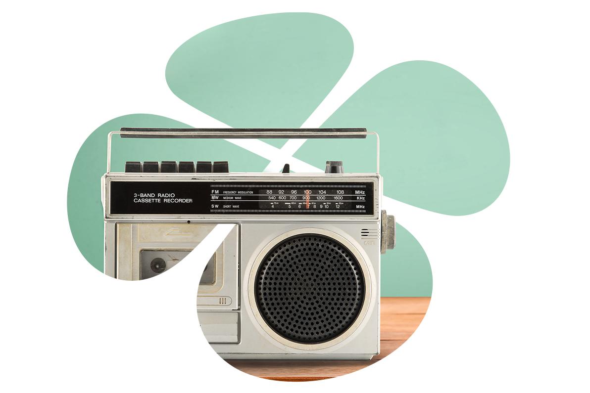 Keskustan apila radion kuvalla