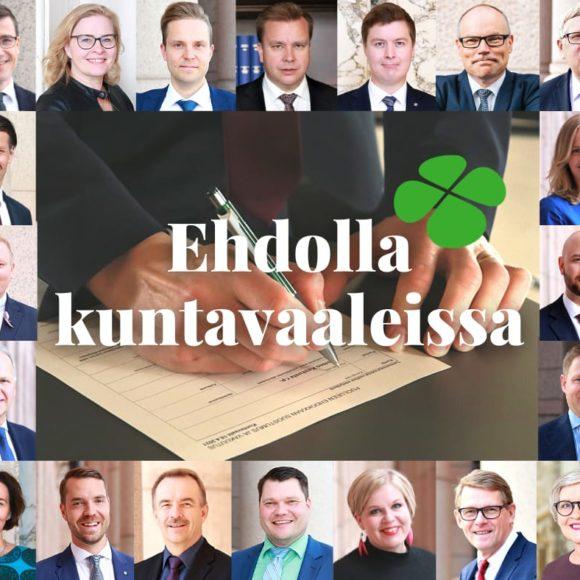 Jo 20 Keskustan kansanedustajaa ehdolla kuntavaaleissa!