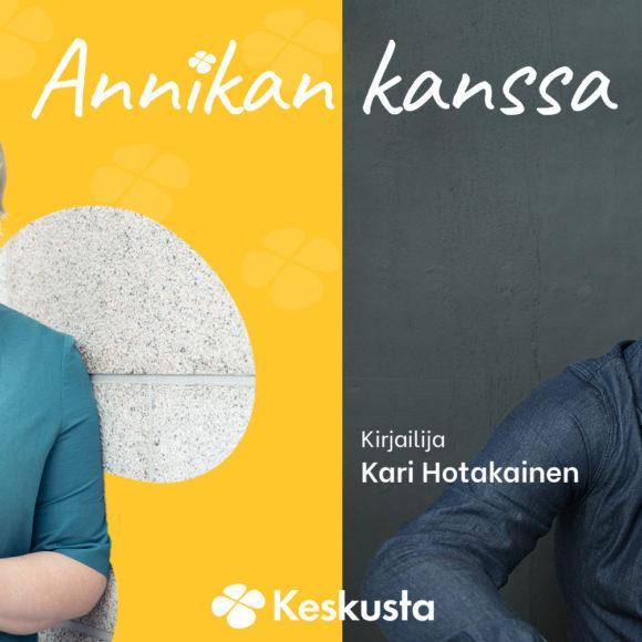 Annika Saarikolle oma virtuaalinen keskusteluohjelma - avausvieraana kirjailija Kari Hotakainen