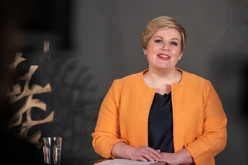Annika Saarikko vaalistartissa