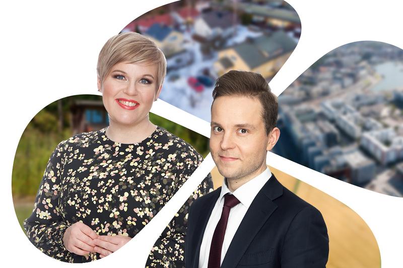 Annika Saarikko ja Petri Honkonen